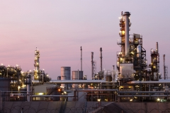 19123571 - oil and gas refinery at twilight - petrochemical factory